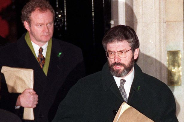 Political process – Deputy First Minister of Northern Ireland, Martin McGuinness and President of Sinn Fein, Gerry Adams have turned to the ballot box and away from bullets and bombs