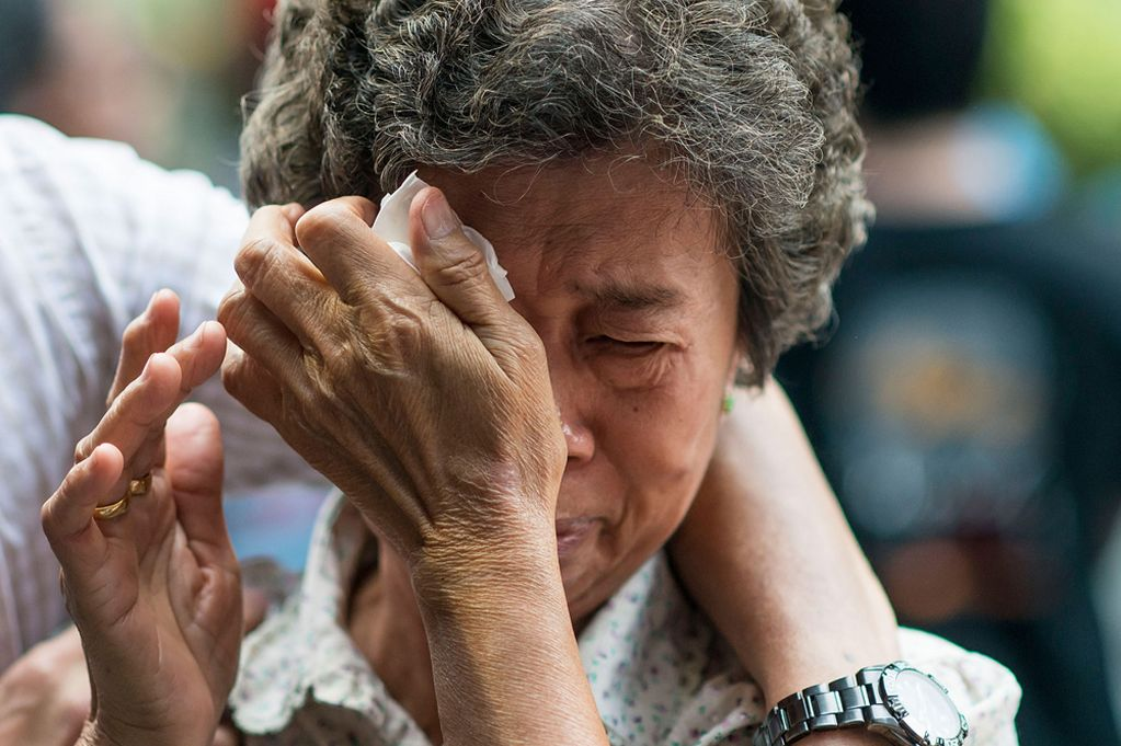 Great unknown - the pain and human suffering of the mystery of Flight MH370 is clear to see.