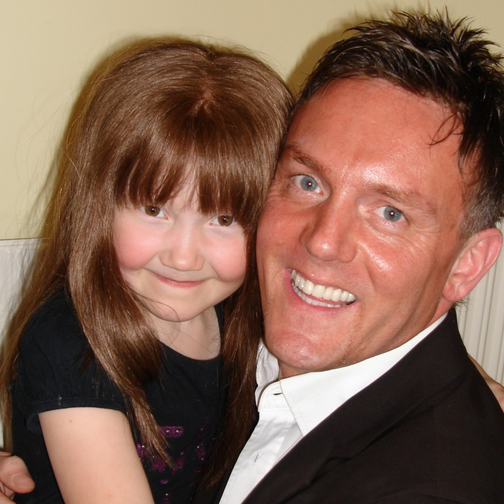 Heart of Gold - Peter Murtha with one of the young Birmingham Children's Hospital cancer patients who Optima support.